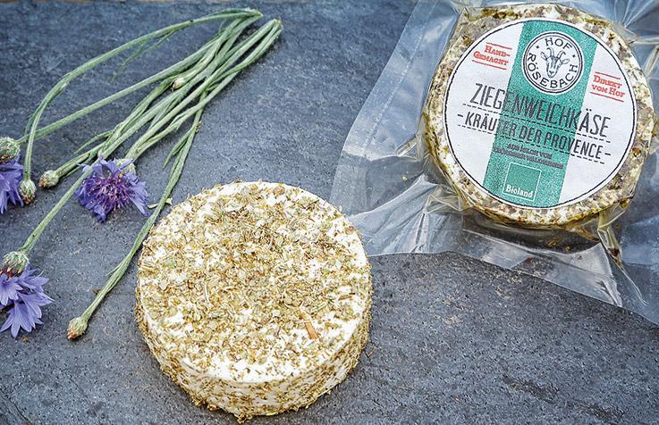 Ziegenweichkaese Kraeuter der Provence - Hof Roesebach